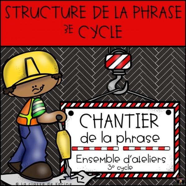 Chantier de la phrase - 3e cycle