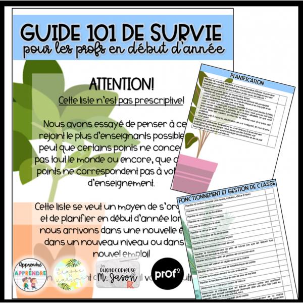 Guide 101 de survie pour les profs