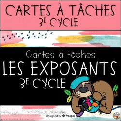 Cartes à tâches - 3e cycle - Les exposants
