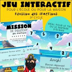 Jeu interactif - Fractions - 3e cycle