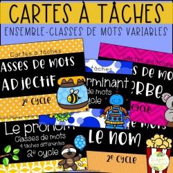 Ensemble - Cartes à tâches - Classes de mots