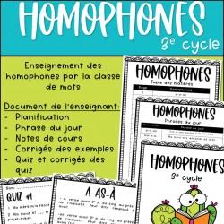 Ensemble - Homophones -3e cycle