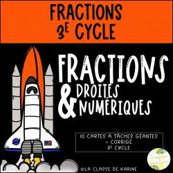 Fractions et droites numériques - 3e cycle