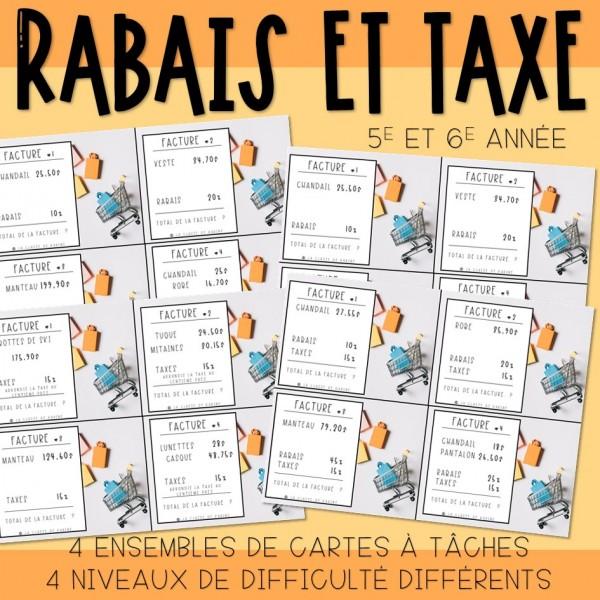 Rabais et taxes - Cartes à tâches