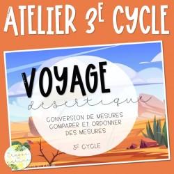 Voyage désertique - 3e cycle