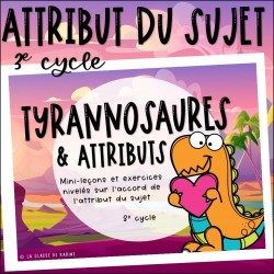 Attribut du sujet - 3e cycle