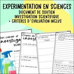 Investigation scientifique - Cahier de l'élève