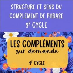 Compléments sur demande - 3e cycle