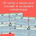 Vocabulaire mathématique - 2e et 3e cycle