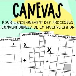 Canevas pour la multiplication - 3e cycle