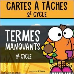 CàT- Termes manquants - 2e cycle