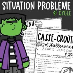 Casse-croûte de l'Halloween - 3e cycle