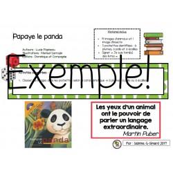 Trousse de lecture: Papaye le panda