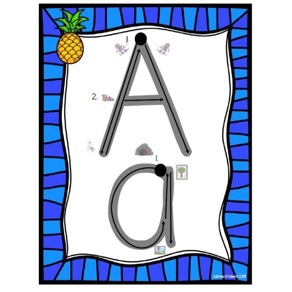Affiches lettres alphabet