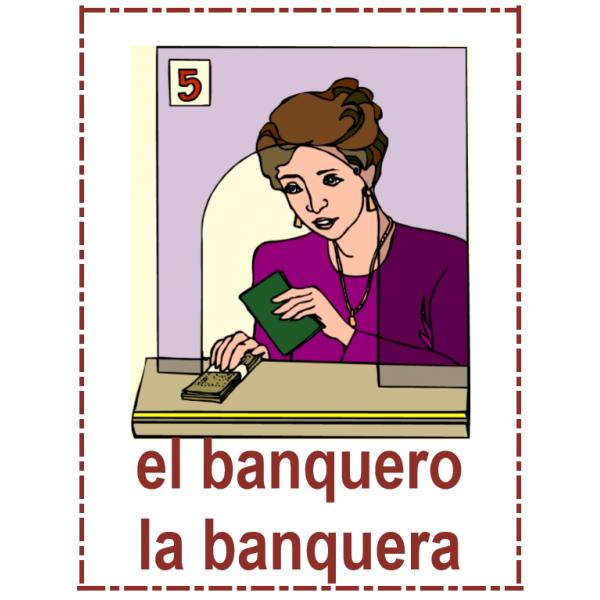 Profesiones en español Carteles
