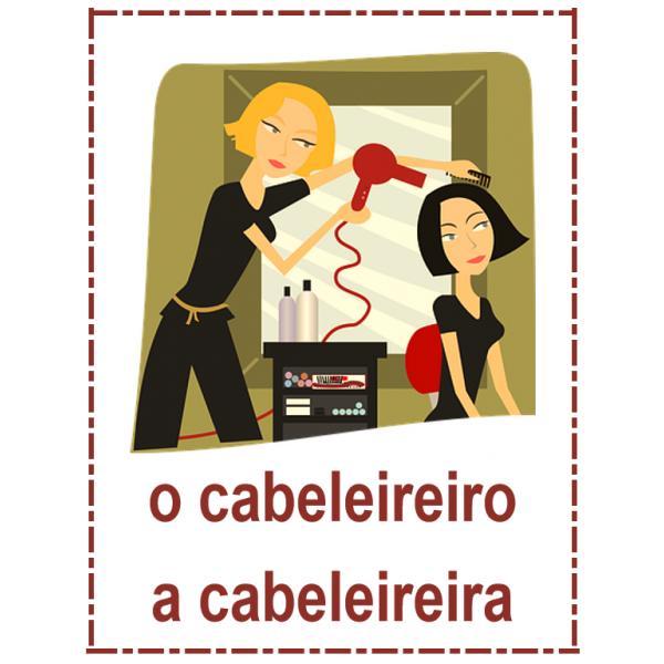 Profissões em português Cartazes