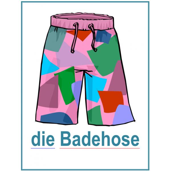 Kleidung (Vêtements en allemand) Affiches