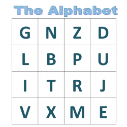 Alphabet in English Bingo