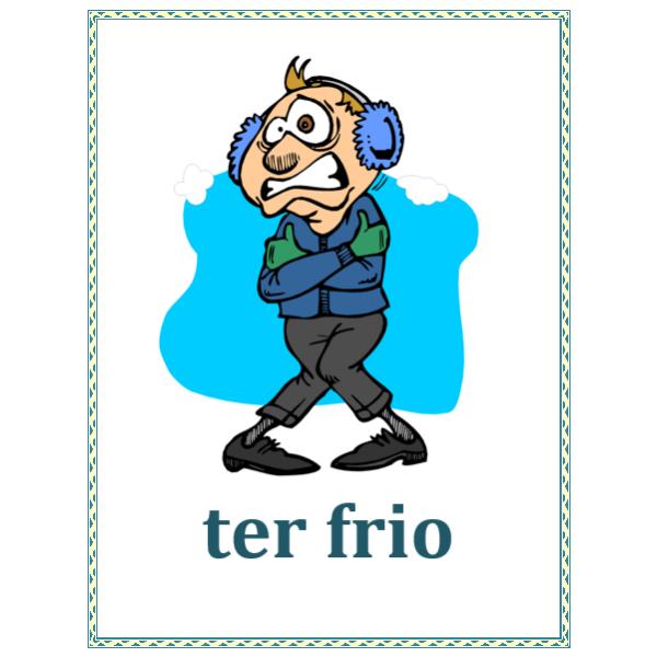 Expressões com ter em português Cartazes