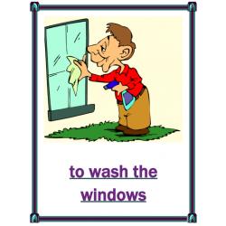 Chores (Travaux domestiques en anglais) Posters