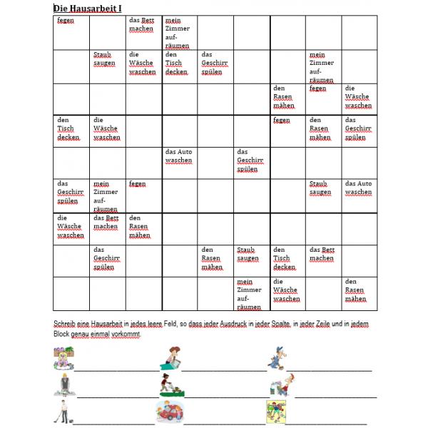 Hausarbeit Sudoku
