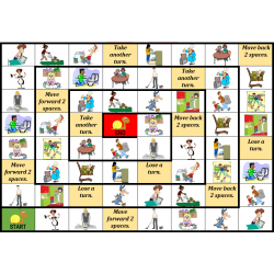 Chores in English Snail game