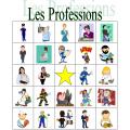 Professions en français Bingo