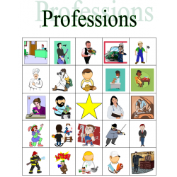 Profession in English Bingo
