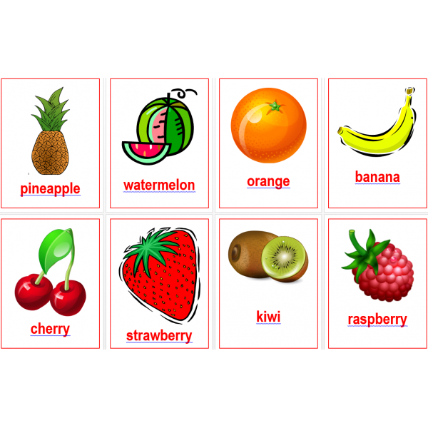 Fruits en anglais Posters