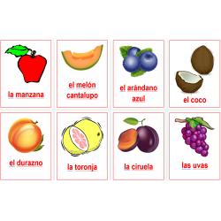 Frutas en español Carteles