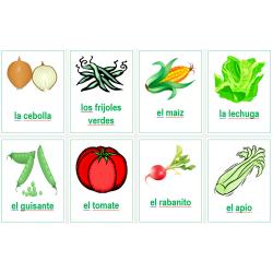 Verduras en español Carteles
