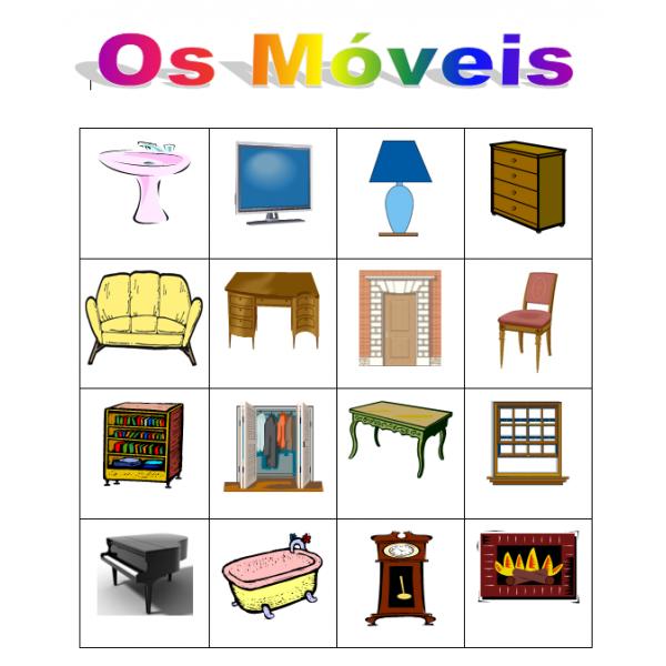 Móveis (Mobilier en portugais) Bingo