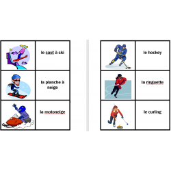 Hiver en français Jeux de Cartes