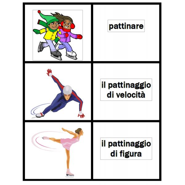 Inverno in italiano Jeux de Cartes