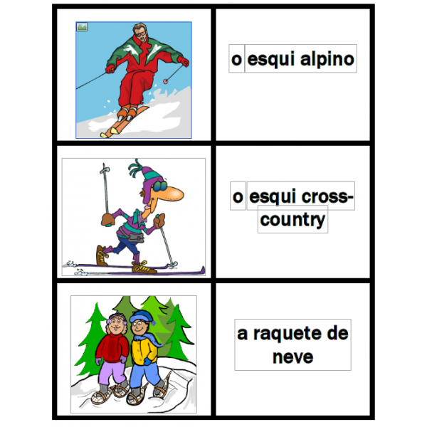 Inverno em português Jeux de Cartes