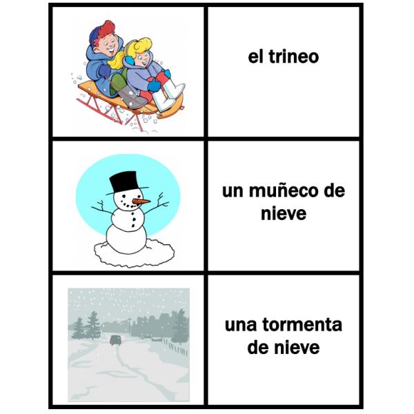 Invierno en español Jeux de Cartes