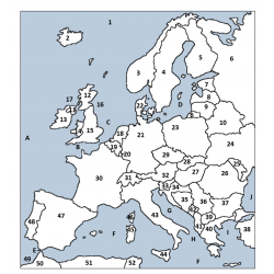 Maps of Europe in English Packet