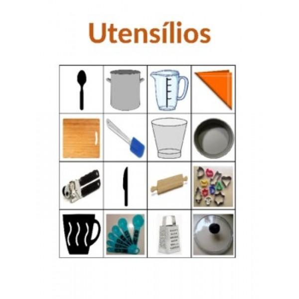 Utensílios em português Bingo