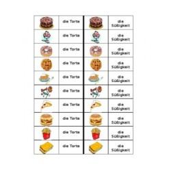 Nachtische und Snacks Dominospiel