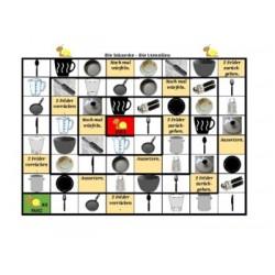Utensilien auf Deutsch Schneckenspiel
