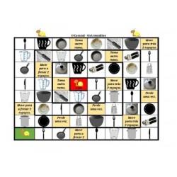 Utensílios em português Jogo do Caracol