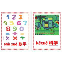 学校科目 xué xiào kē mù en chinois Affiches
