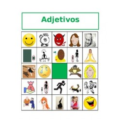 Adjetivos en español Bingo