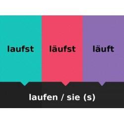 Starke Verben auf Deutsch Fliegenklatsche
