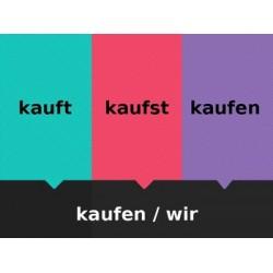 Schwache Verben auf Deutsch Fliegenklatsche