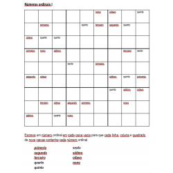 Números ordinais em Português Sudoku
