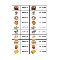 Nagerechten en Snacks Jeu des Dominos