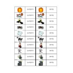 Halloween in English Dominoes