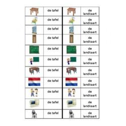 Schoollokaal en néerlandais Jeu des Dominos