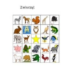 Zwierząt en polonais Bingo